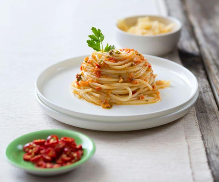 spaghetti aglio peperoncino- recette Maditaly
