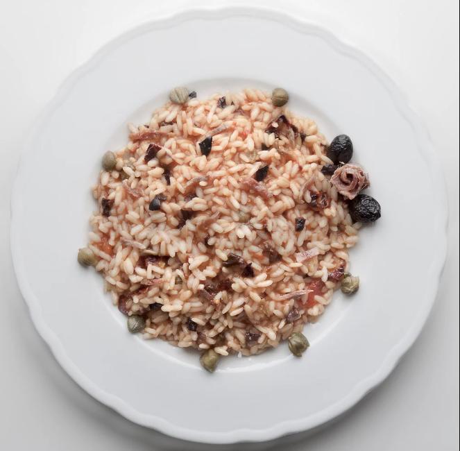Risotto aux anchois et aux câpres – recette Maditaly