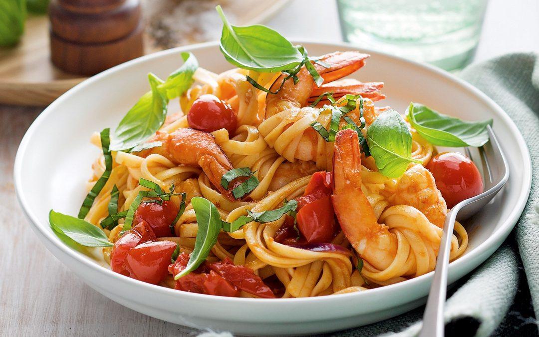 Pasta al peperoncino e basilico- recette Maditaly